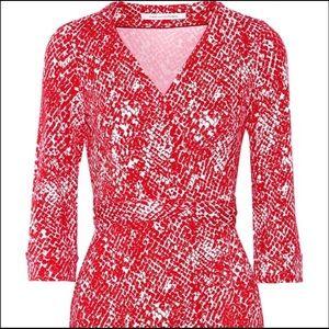 Diane Von Furstenberg Wrap Dress. Serpent Red. 12